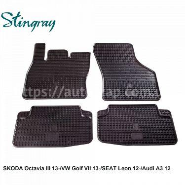 Автоковры Skoda Octavia III 13-/Audi A3 12-/Seat Leon 12-/VW Golf VII 13-