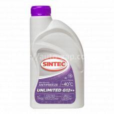 Антифриз Sintec UNLIMITED G12 + +  (-40) 1л  красно-фиолетовый