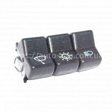 Клавиша включения 3-х кнопочная (свет, дворник, подсветка) ВАЗ-2101 АО Автоарматура