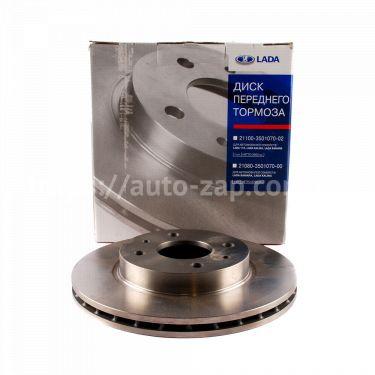 Диск тормозной ВАЗ-2110 АвтоВАЗ R13 вентилируемые
