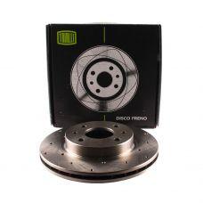 Диски тормозные ВАЗ-2110 Trialli R13 вентилируемые с перфорацией