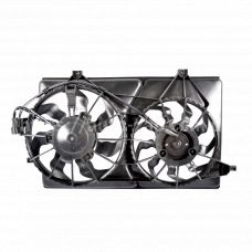 Электровентилятор охлаждения ВАЗ-2170 Лада Приора с кожухом под кондиционер Halla (оригинал) АвтоВАЗ