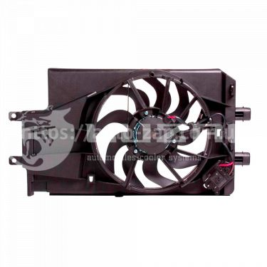 Электровентилятор охлаждения радиатора ВАЗ-2190 в сборе с кожухом) (15-) (тип KDAC) (LFK 0194) Luzar
