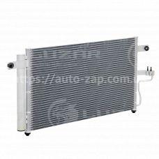 Радиатор кондиционера Hyundai Accent 1.3/1.5/1.6 (99-) АКПП с ресивером (LRAC HUAc99250) Luzar
