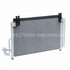 Радиатор кондиционера Kia Rio 1.3/1.5 (00-) АКПП/МКПП с ресивером LRAC 08FD Luzar