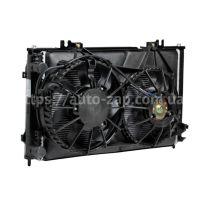 Радиатор охлаждения ВАЗ-2170 Лада Приора (+рад. конд+вентил)(А/С Halla)(LRK 0127) Лузар